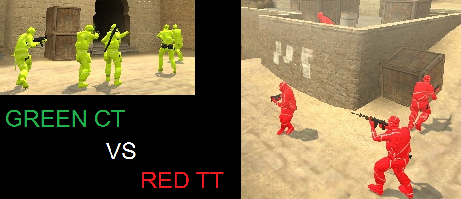 Green VS Red Skin pack for CT and T Models